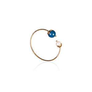 Blue & Pearl Bangle