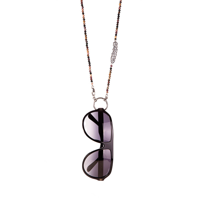 Onyx Eyewear Necklace - Eyewear necklace comes in assorted stones and colors.  The word attached in Arabic says: