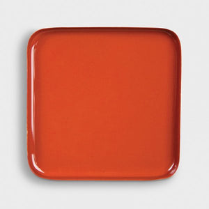 TRAY METAL SQUARE AMBER
