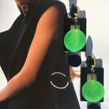 Green Geo Earrings - UniqueFindz.com