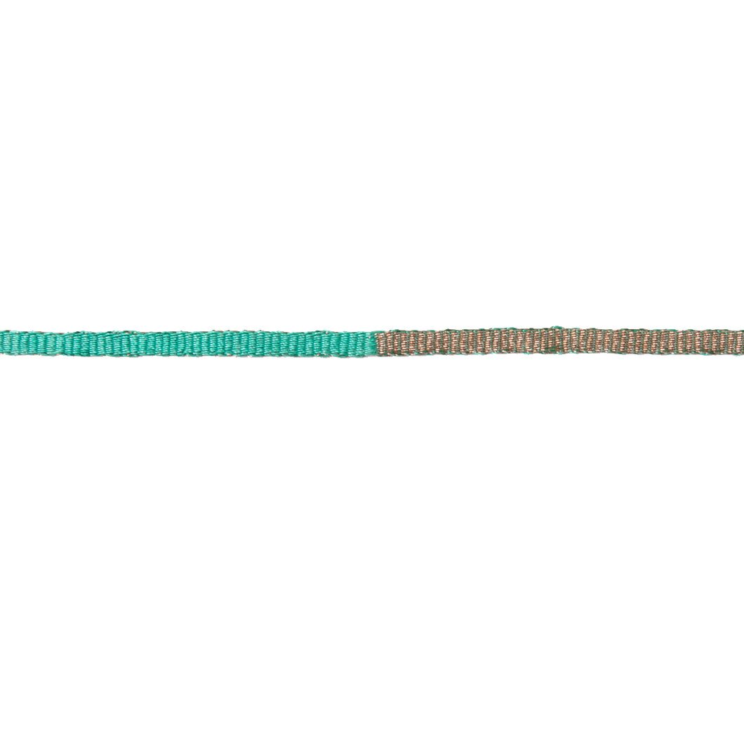 Teal & Metallic Choker - UniqueFindz.com