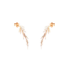 Diamond Leaves Earrings - UniqueFindz.com