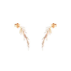 Diamond Leaves Earrings
