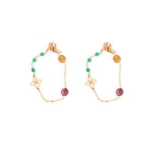 Turquoise & Maroon Earrings