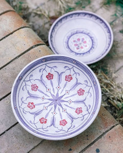 LILAC ORNATE HAND PIANTED BOWL