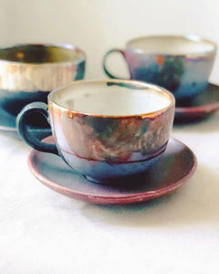 ABSTRACT LUSTER CAPPUCCINO CUP