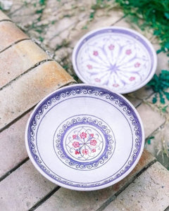 LILAC FLORAL HAND PAINTED BOWL