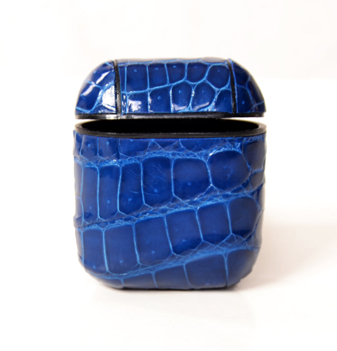 Blue Crocodile Airpod Case - UniqueFindz.com