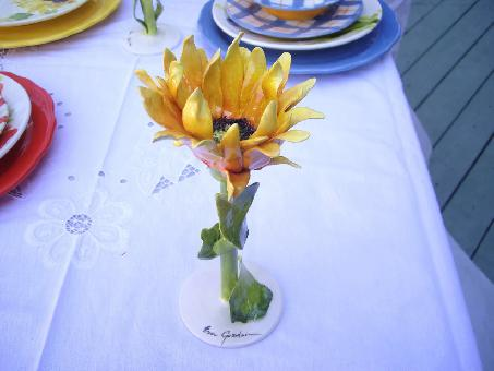 Floral Goblet Sunflower- Yellow -  Dimensions 8.7 x 8.7 x 9.7 CM