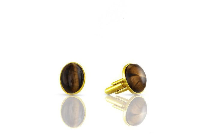 Tiger Eye Cufflinks - UniqueFindz.com