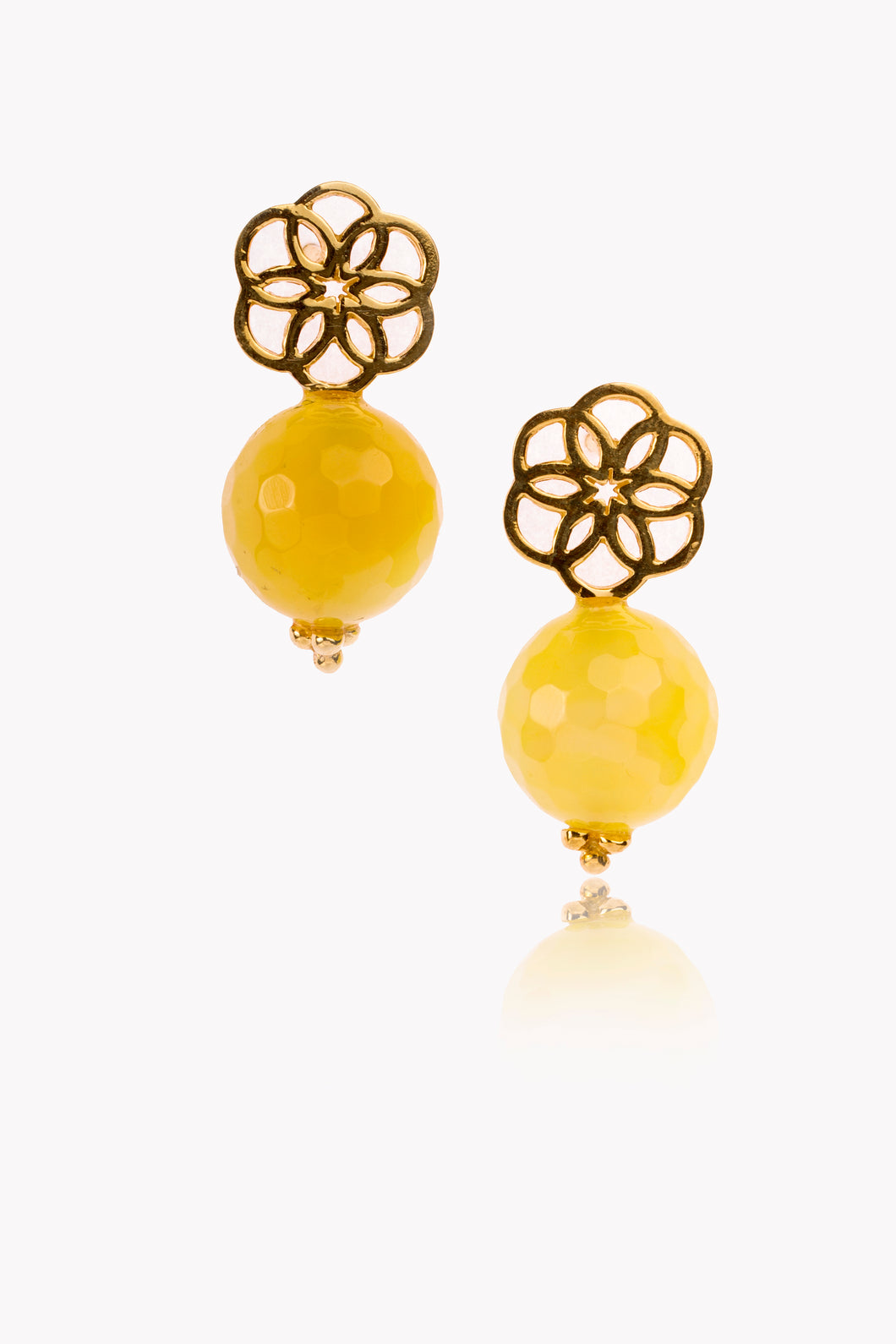 Yellow Sand Rose Earring