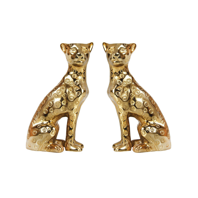 Candle Holder Leopard Brass - UniqueFindz.com
