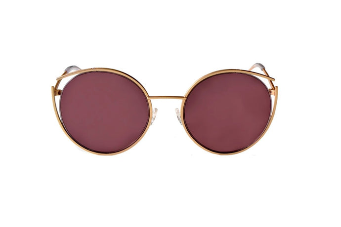 Roundish Sunglasses - Gold