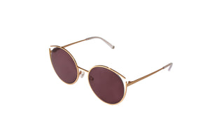Roundish Sunglasses - Gold - UniqueFindz.com