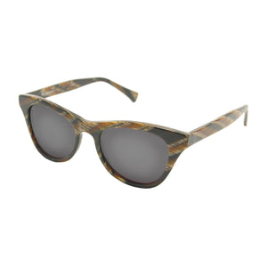 Casablanca - Mirror Lens Brown Horn - UniqueFindz.com