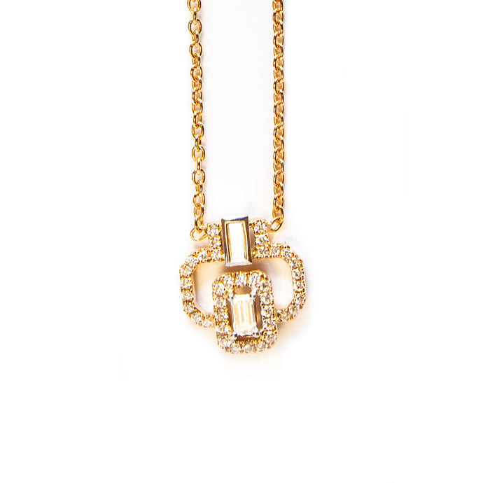 Boss Necklace - Baguettes & diamonds embellishment