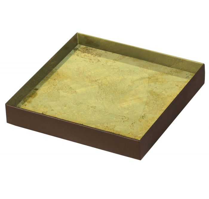 Gold leaf glass valet tray - UniqueFindz.com