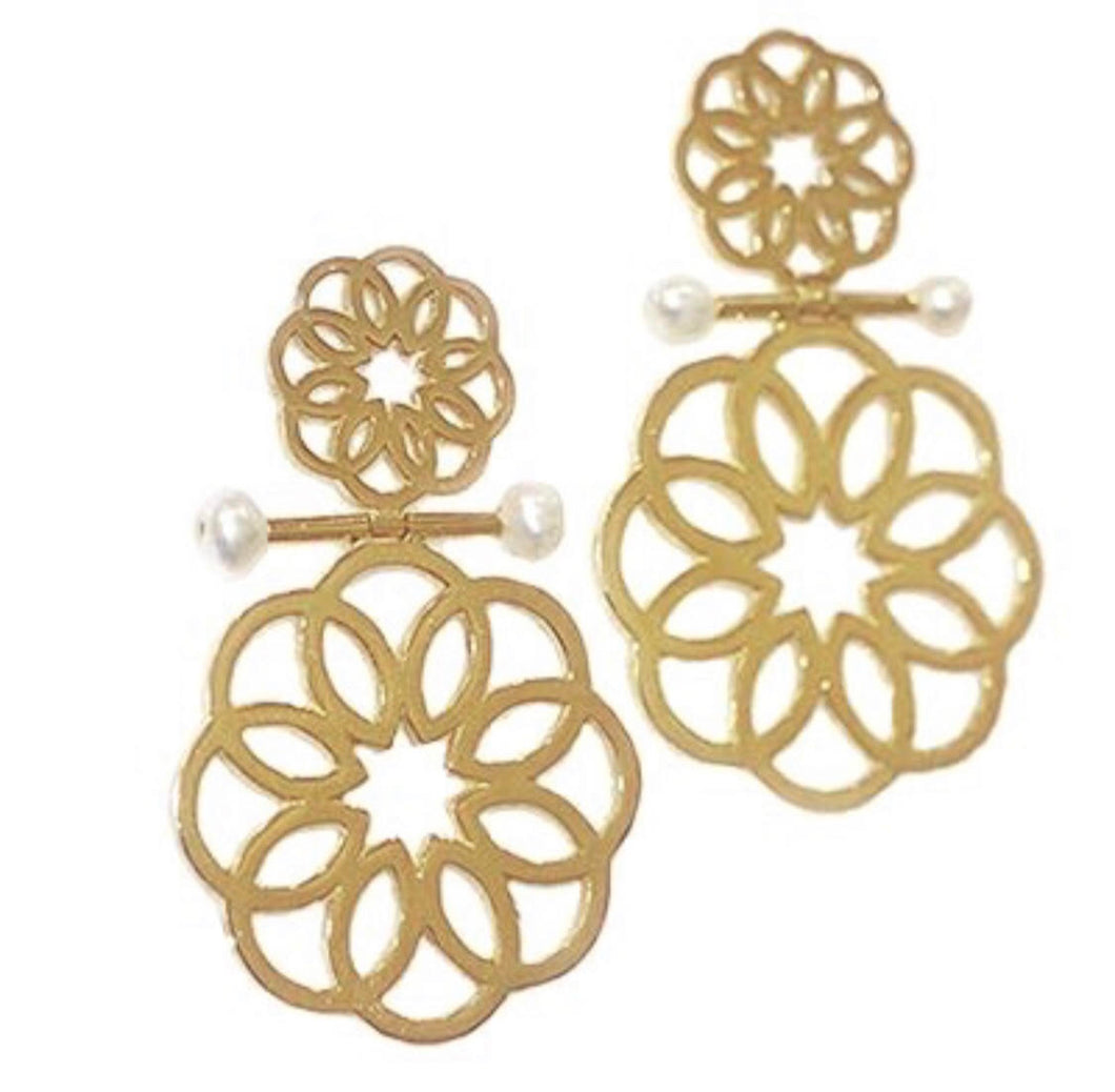 Sand Rose Earring