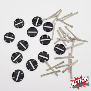 Scalextric Sport C8329 - 12 Quick-Fit Pickup Plates With 24 Braids