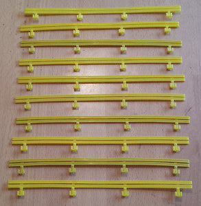 MICRO SCALEXTRIC spares / accessories - BARRIERS - G108 / L7559 - Yellow x 10 - Action Slot Racing
