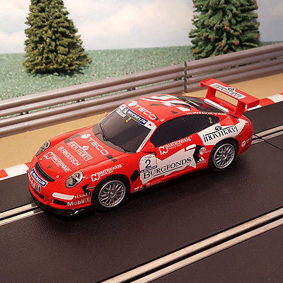 Scalextric 1:32 Digital Car - Red Porsche 997 Teco #2 - Action Slot Racing