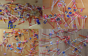 Scalextric Classic Flags On Poles x 25