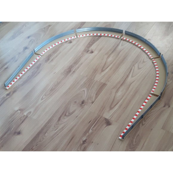 Scalextric Classic 1:32 Borders Barriers L7989 L7990 4 Standard Curves 2 Lead In
