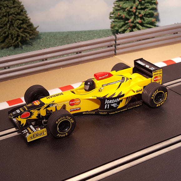 Scalextric 1:32 Car - C2126 F1 Formula One - Yellow Jordan Mugen Honda 198 #9