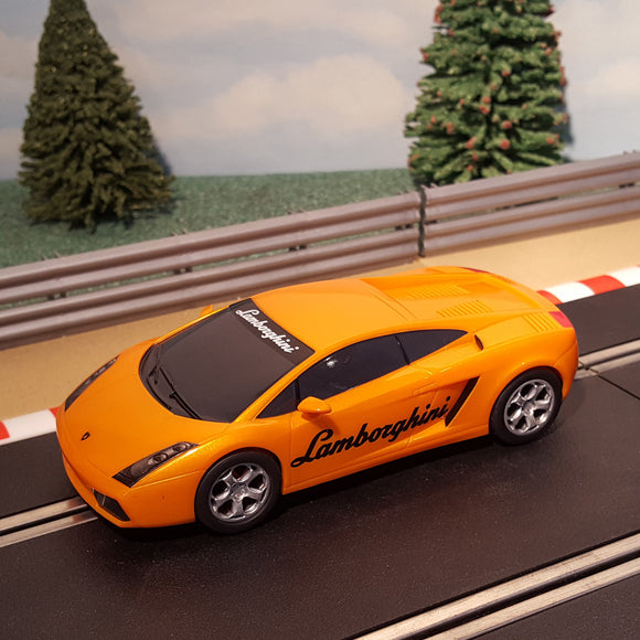 Scalextric 1:32 Car - Orange Lamborghini Gallardo (with 'Lamborghini' logo)