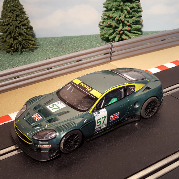 Scalextric 1:32 Car - Aston Martin DBR9 # 57 *LIGHTS* #MS