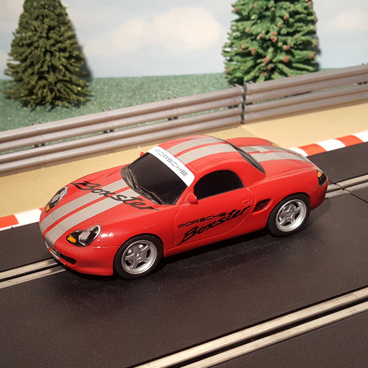 Scalextric 1 32 Car Red Porsche Boxster Action Slot Racing