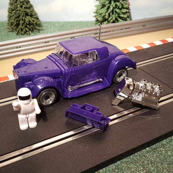 Scalextric 1:32 Demolition Derby 'Quick Build' Purple Car + Instructions