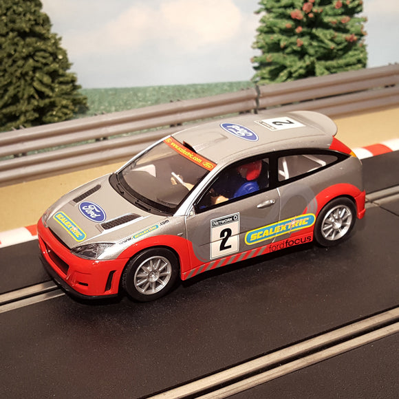 Scalextric 1:32 Car - Red & Silver Ford Focus WRC #2 #M