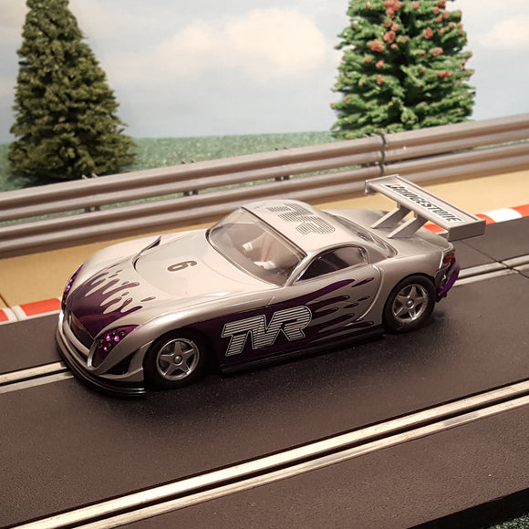 Scalextric 1:32 Car - C2357 Silver TVR Speed 12 #6