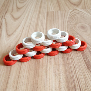Scalextric Genuine Red & White Tyres For Range Rover or Tyre Wall