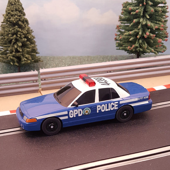 Scalextric 1:32 Car - Batman Gotham Police Car *FLASHING LIGHTS* - Action Slot Racing