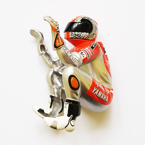 Scalextric Motorbike MotoGP Figure - Red Silver #33 Yamaha Melandri For C6017