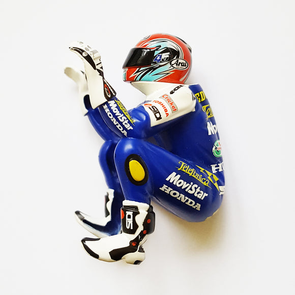 Scalextric Motorbike MotoGP Figure - Blue White Honda #45 Edwards For C6007