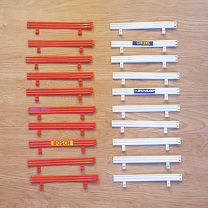 Scalextric Classic 1:32 Track Barriers Armco Fence C274 - 10 Red, 10 White