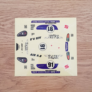 Scalextric 1:32 Start / Sport Car Stickers Decals Transfers #91