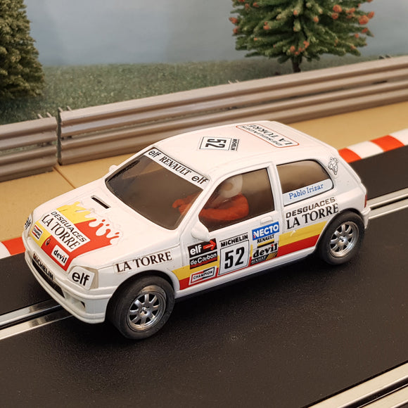 Ninco Runs On Scalextric 1:32 Car - Renault Clio 16v #52 #Z