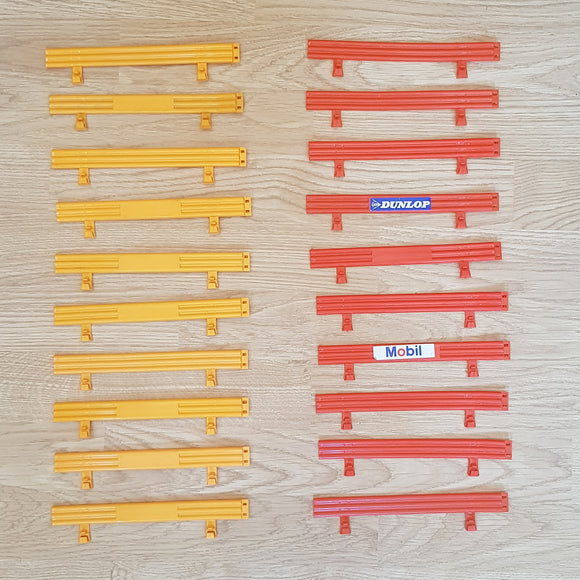 Scalextric Classic 1:32 Track Barriers Armco Fence C274 - 10 Red, 10 Yellow