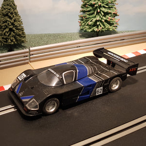 Scalextric 1:32 Car - Black Mercedes-Benz Le Mans #62