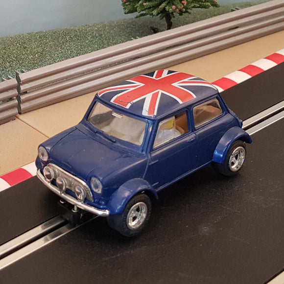 Scalextric 1:32 Car - C399 Blue Mini Cooper Limited Edition Union Jack Flag