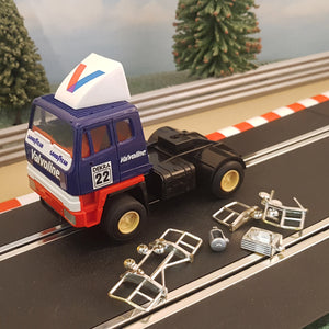 Scalextric 1:32 Lorry Truck Racing Rig - C2071 Blue Valvoline #22 #V