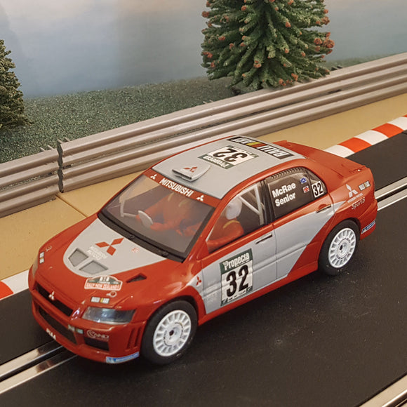 Scalextric 1:32 Car - C2494 Red Mitsubishi Lancer WRC #32 Mcrae Senior RARE #V