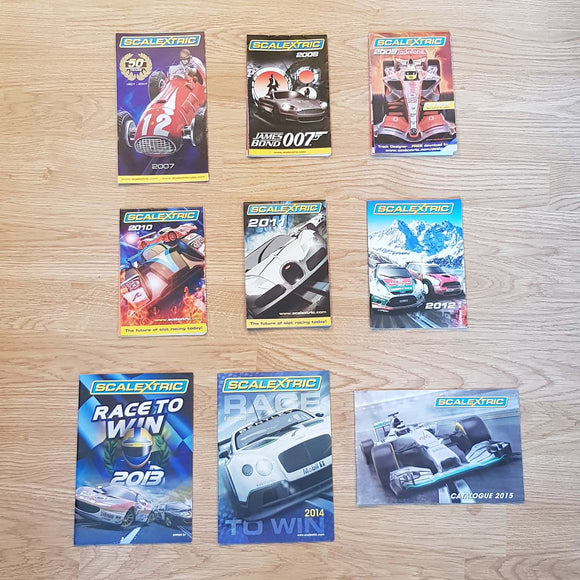 Scalextric Catalogues - 2007 2008 2009 2010 2011 2012 2013 2014 2015