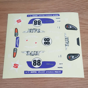 Scalextric 1:32 Start / Sport Car Stickers Decals Transfers #88