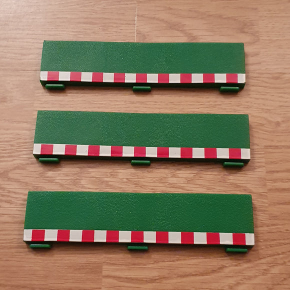 SCX 1:32 Green Standard Half Straight Borders SA-03.030 x 3