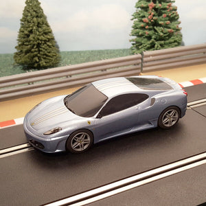 Scalextric 1:32 Car - C3067 Light Blue & 2 Silver Stripes Ferrari F430 #R